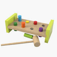 3D wooden toy model