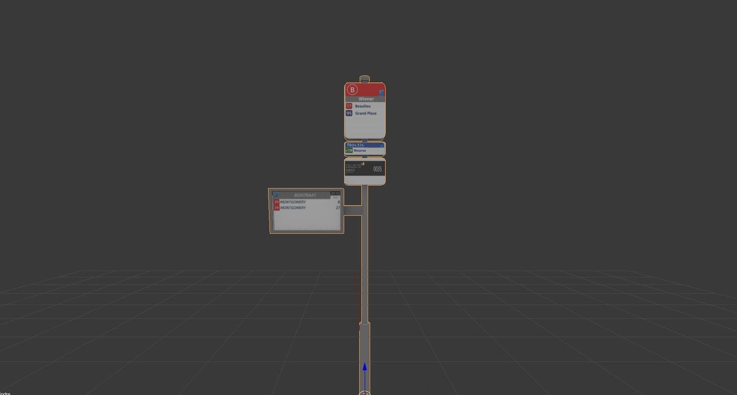 3D bus stib stop