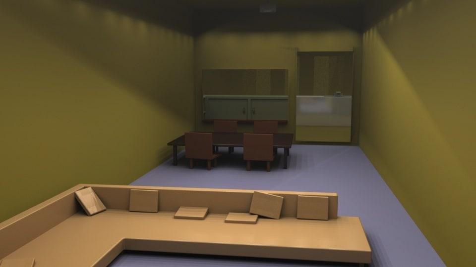 livingroom kitchen 3D model