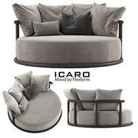 icaro sofa wood 3D