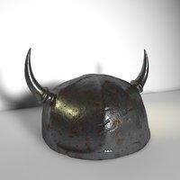 Lowpoly Viking Helmet