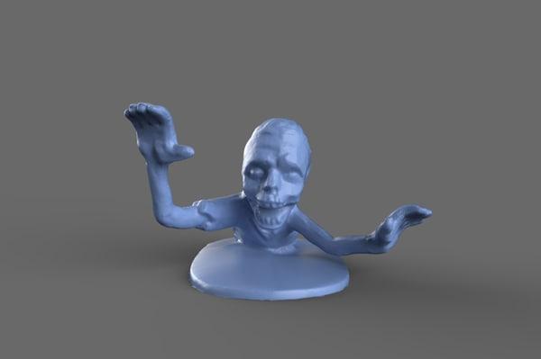 zombie torso miniature toy 3D