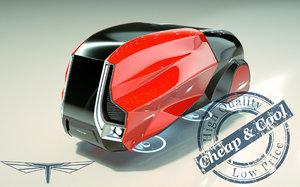 3D hover minivan