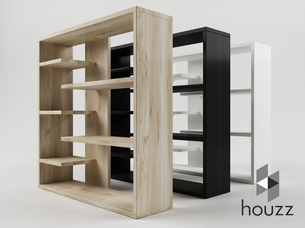 homestar 6 shelf storage 3D model