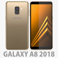 3D model samsung galaxy a8