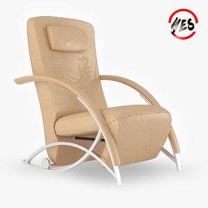 3D armchair-recliner armchair