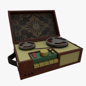 musical box gramophone player 3D model