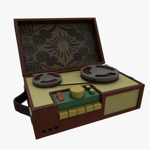 musical box gramophone player 3D model