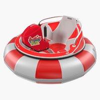 3D amusement park bumper boat