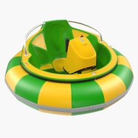 electric bumper boat generic 3D model