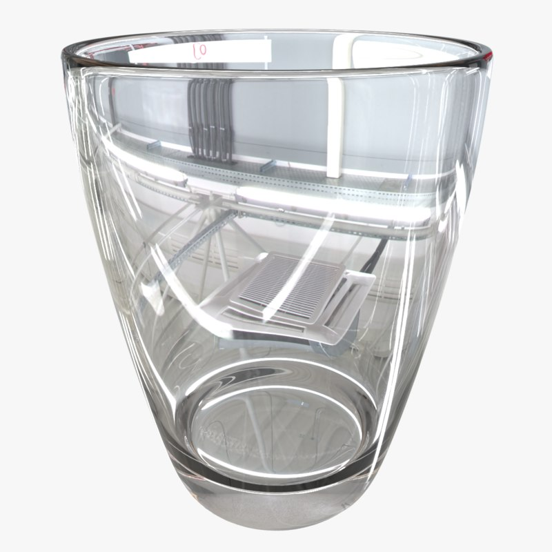 3D cup transparency model