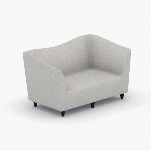 3D model interior - armchair chair stool