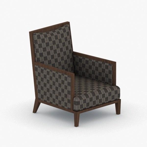 3D interior - armchair chair stool model