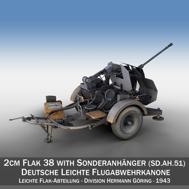2cm flak 38 sd 3D