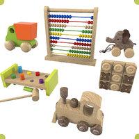 3D wooden toys set 1 model
