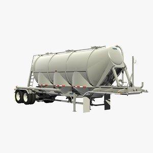 3D pneumatic trailer model