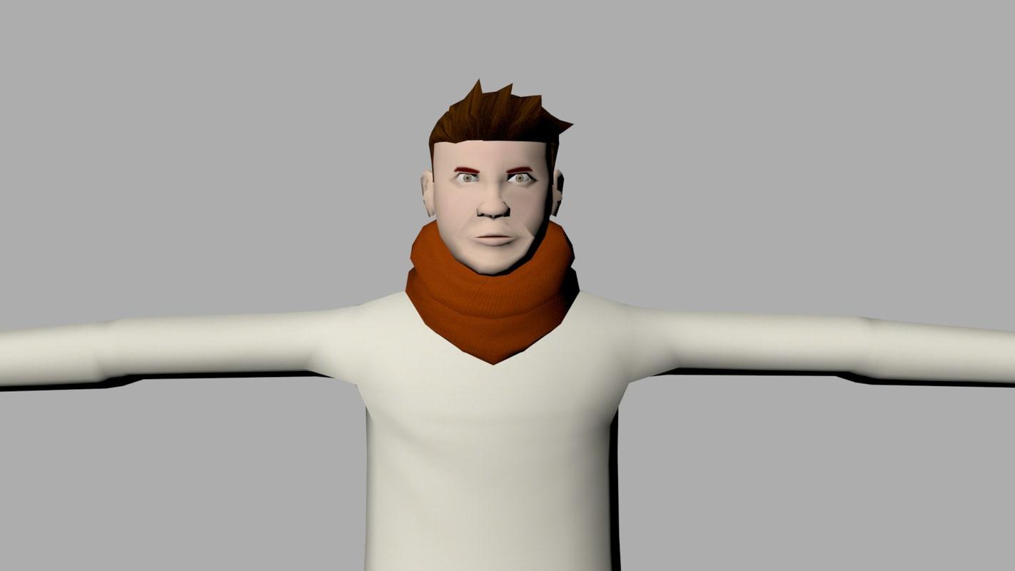 michael character 3D model