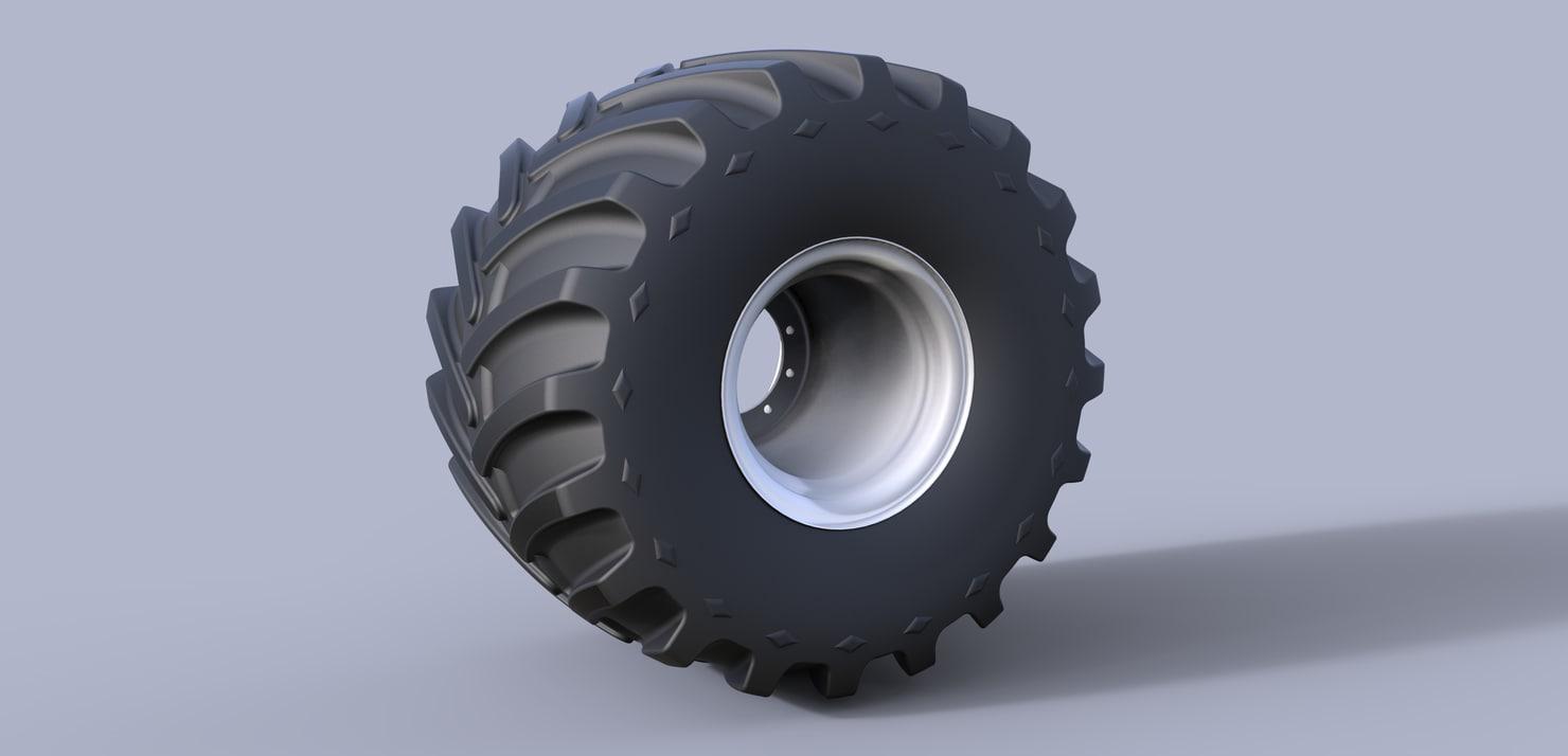 3D wheel monster
