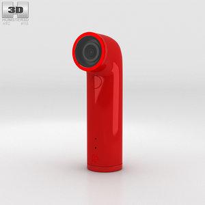 3D htc camera red model