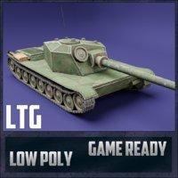 3D model ltg tank ussr toon