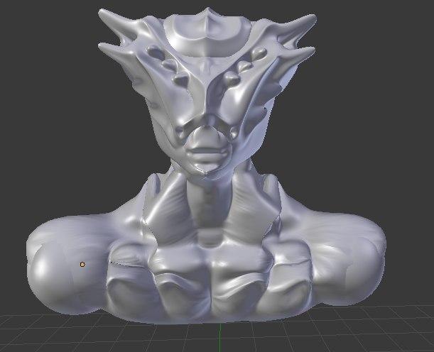 3D alien humanoide monster