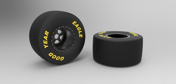 wheel drag dragster 3D model