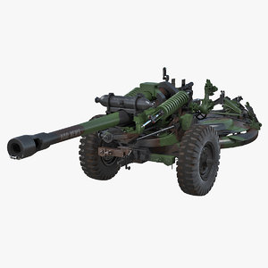 3D light field howitzer m119 model