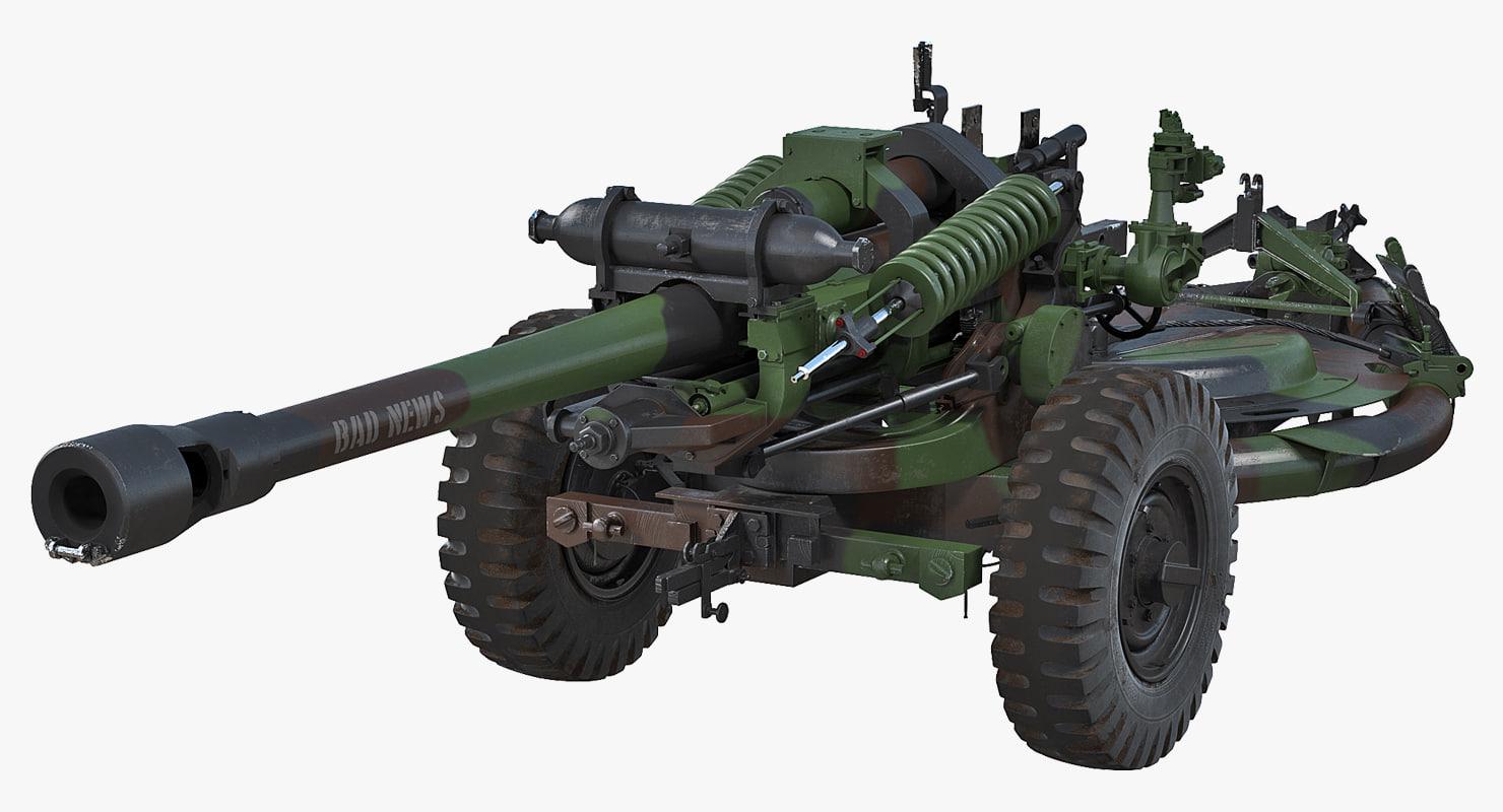 3D light field howitzer m119 model