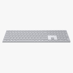 3D microsoft surface keyboard