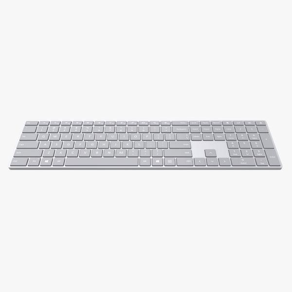 3D microsoft surface keyboard