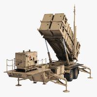 MIM-104 Patriot Battle Position Sand 3D Model