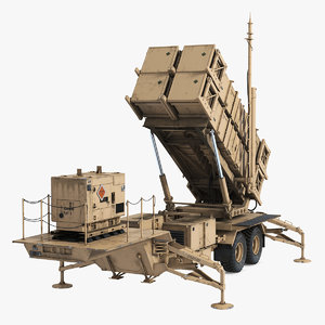 3D mim-104 patriot battle position model