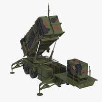 MIM-104 Patriot SAM Battle Position 3D Model