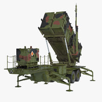 3D mim-104 patriot sam rigged