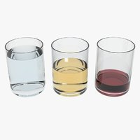 glasses transparent liquids 3D model