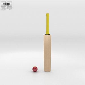 cricket bat ball 3D model