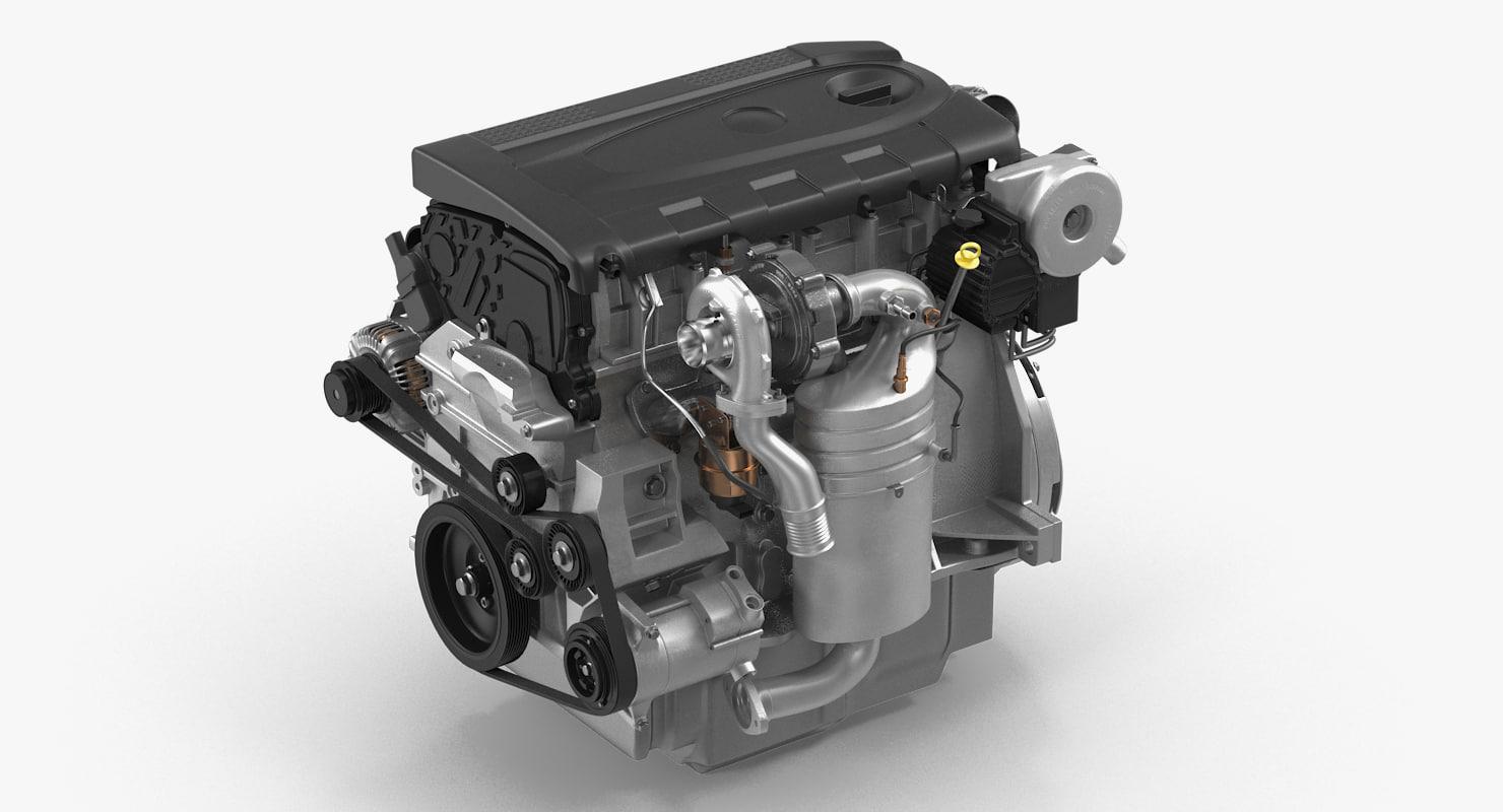 turbo diesel engine 1 3D model
