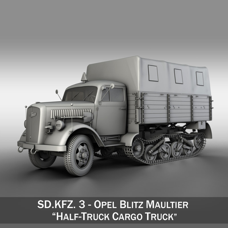 3D sd - opel blitz model