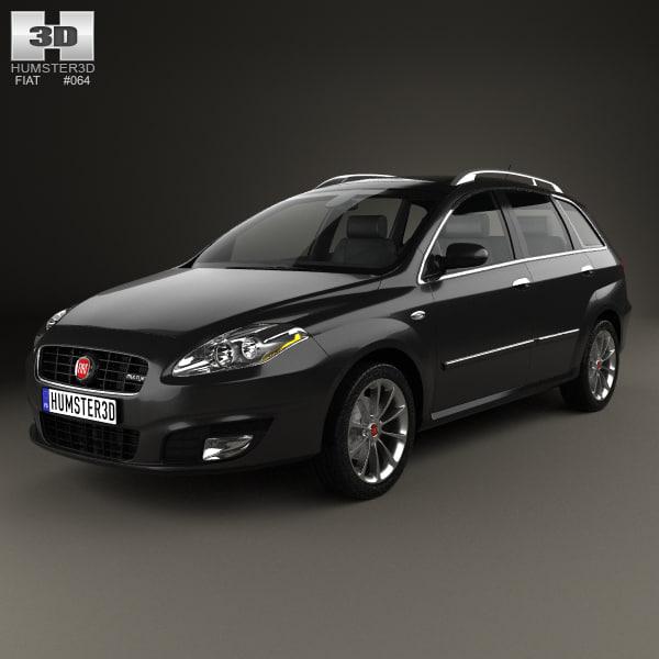 3D model fiat croma 2008