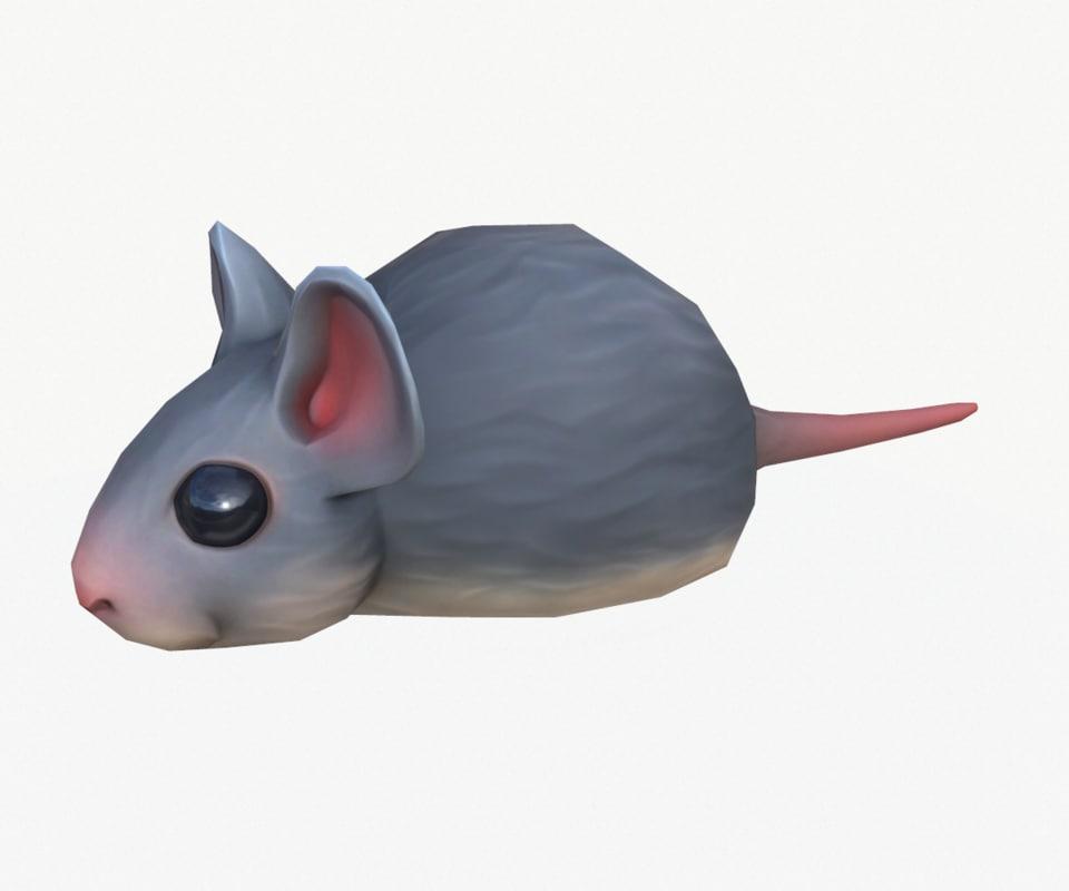 stylized mouse 3D model