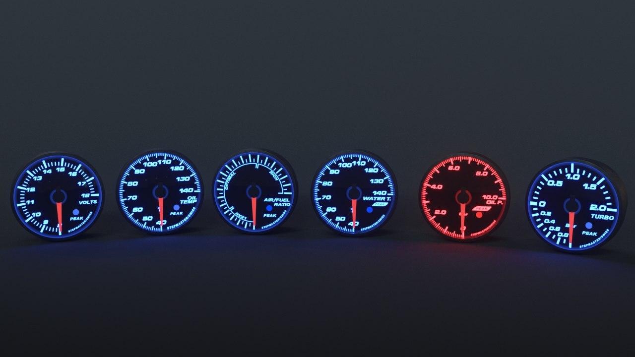 3D jdm gauges