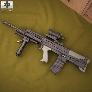 sa80 l85a2 sa 3D model