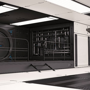 sci fi lab interior model