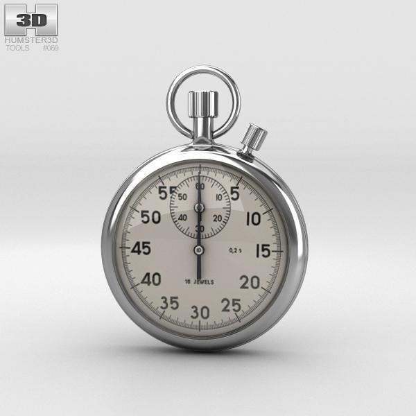 3D mechanical stopwatch stop model