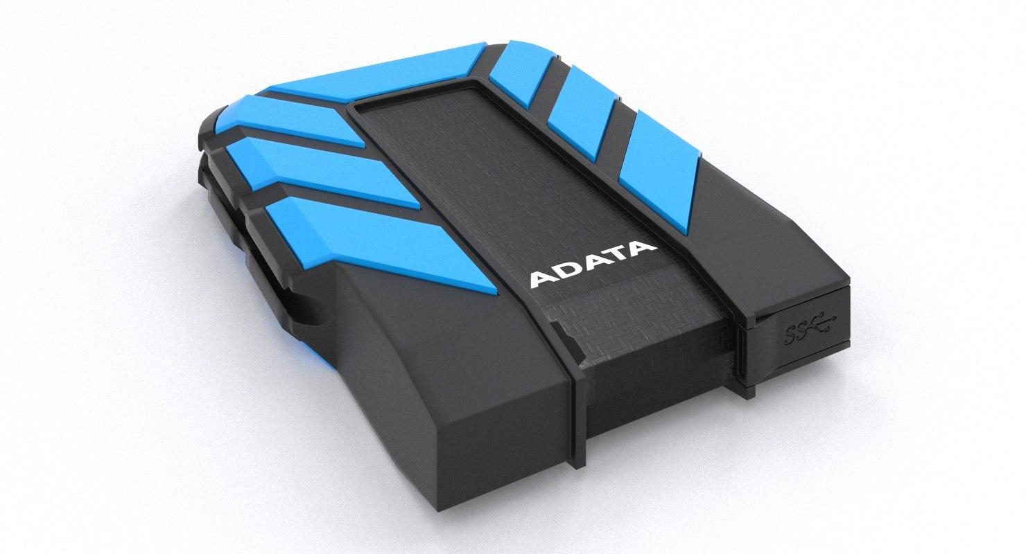 3D model usb external hard drive