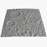 3D moon surface