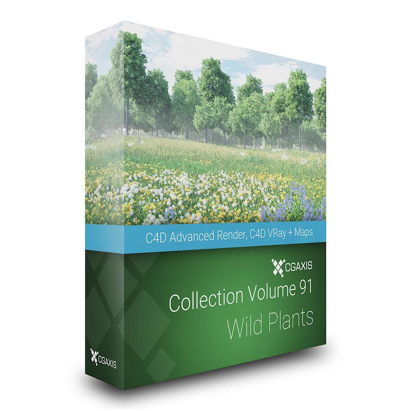 3D wild plants