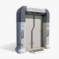 low-poly sci-fy gates 3D