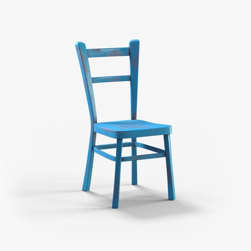 blue chair 3D