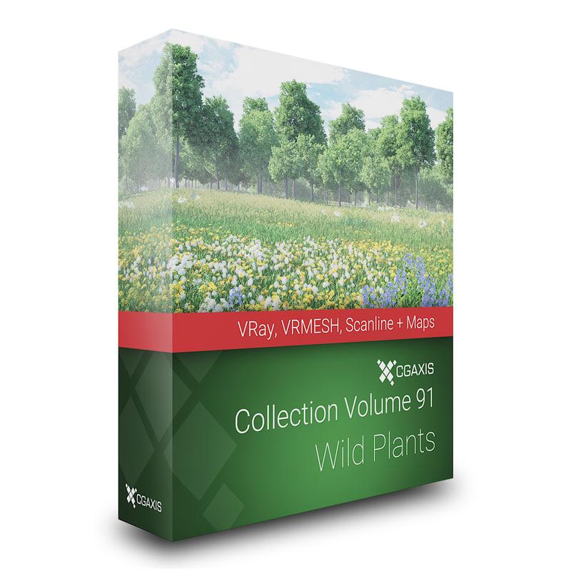 wild plants 3D model